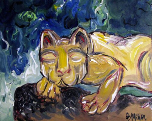Nittany Lion statue painting