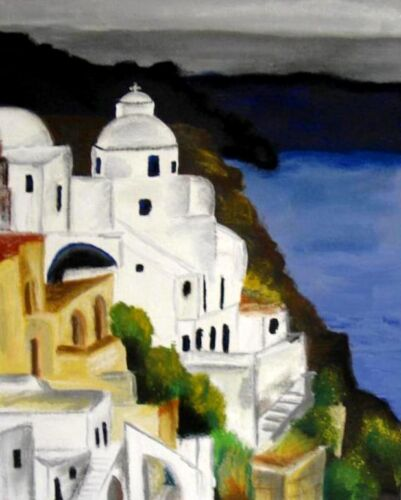 Santorini Greece Painting