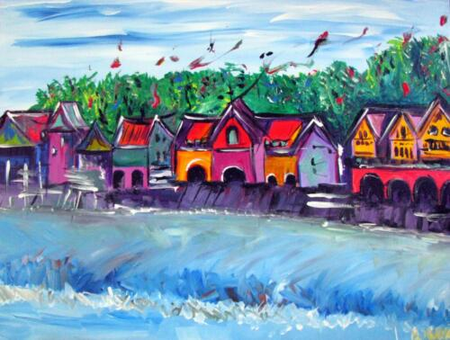 Philadelphia Boathouse Row Painting
