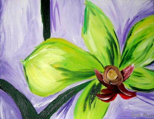 Tropical flower painting
