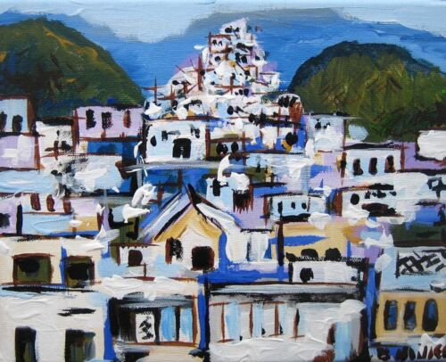 Greece Houses painting