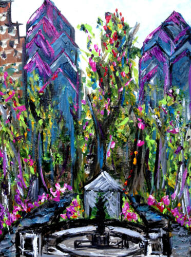 Rittenhouse Square Philadelphia painting
