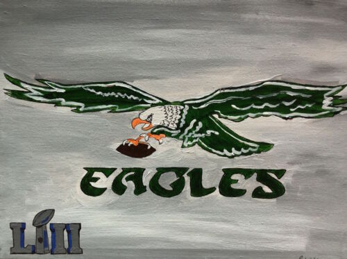 Philadelphia Eagles Superbowl Painting