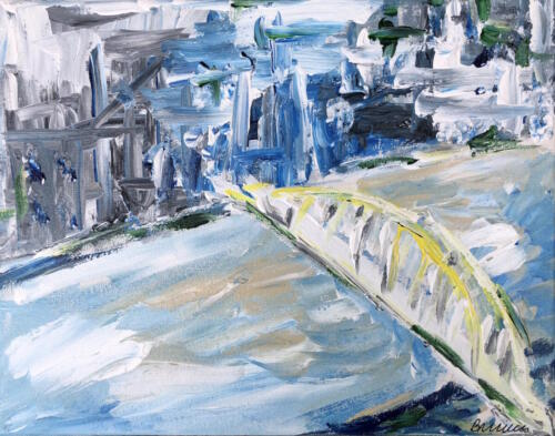 Pittsburgh bridge painting