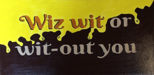 Wiz wit or wit-out you cheesesteak painting