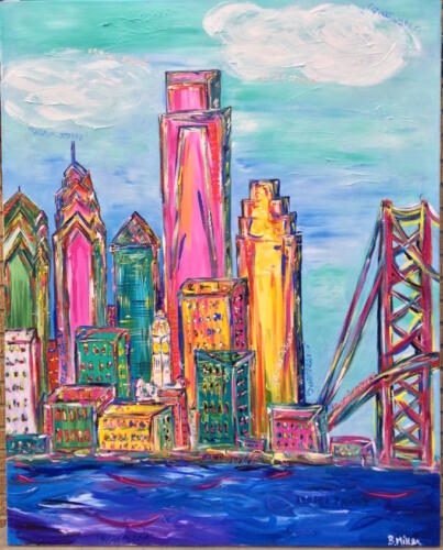 Philadelphia Skyline Painting