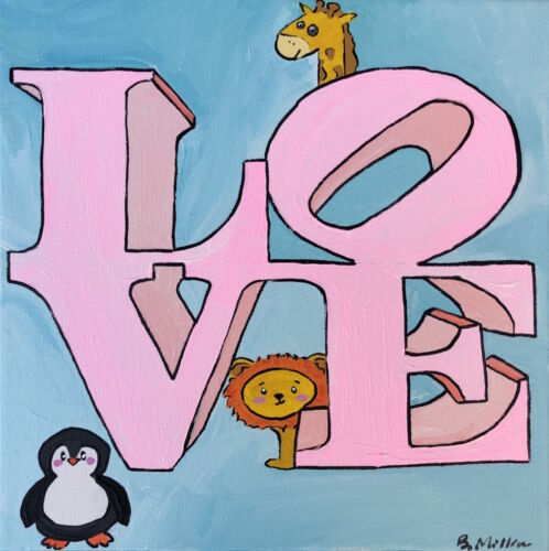 Philly Love Statue Baby painting