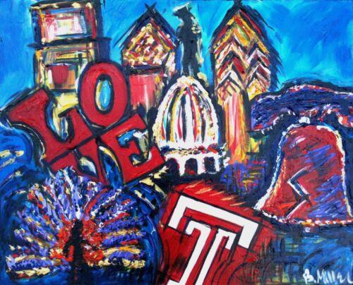 Philadelphia mashup painting