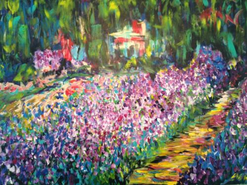 Monet Iris Painting