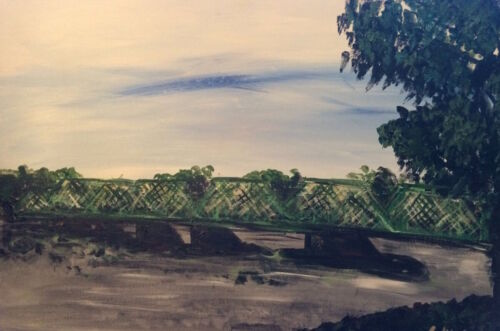 New Hope Lambertville Bridge Painting