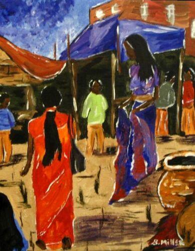 India Market painting