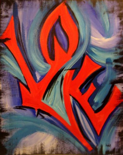 Love Statue Graffiti painting