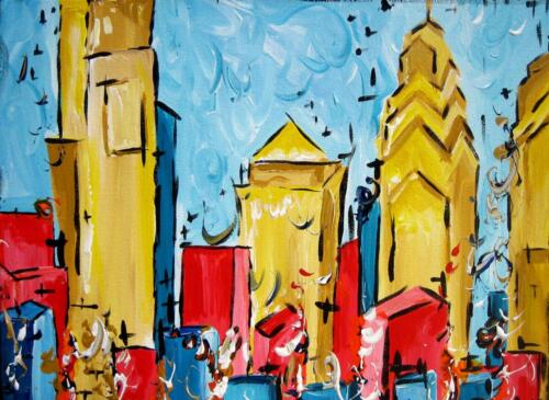 Philly Skyline painting