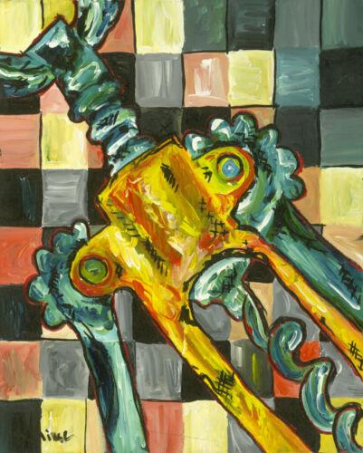 Wine Opener Corkscrew Painting