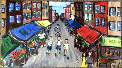 Italian market family painting