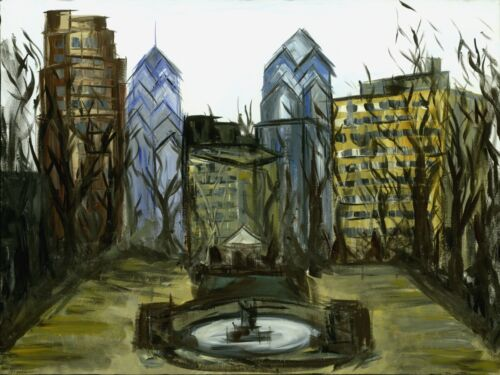 Philadelphia Rittenhouse square painting